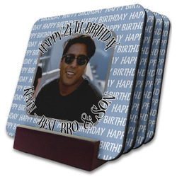 Photo Birthday Coaster Set w/ Stand (Personalized)