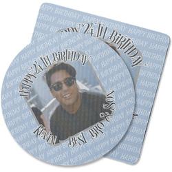 Photo Birthday Rubber Backed Coaster (Personalized)
