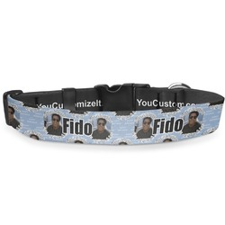 """Photo Birthday Deluxe Dog Collar - Toy (6"""" to 8.5"""") (Personalized)"""