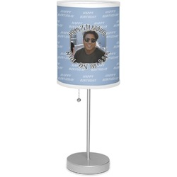 """Photo Birthday 7"""" Drum Lamp with Shade Linen (Personalized)"""