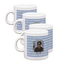 Photo Birthday Espresso Mugs - Set of 4 (Personalized)