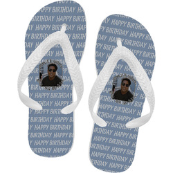 Photo Birthday Flip Flops (Personalized)