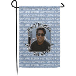 Photo Birthday Single Sided Garden Flag (Personalized)