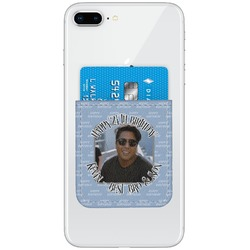 Photo Birthday Genuine Leather Adhesive Phone Wallet (Personalized)