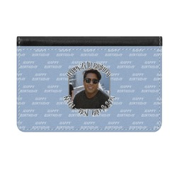 Photo Birthday Genuine Leather ID & Card Wallet - Slim Style (Personalized)