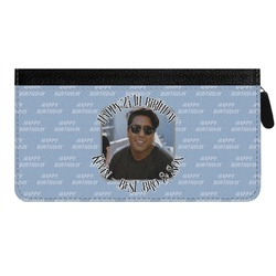 Photo Birthday Genuine Leather Ladies Zippered Wallet (Personalized)