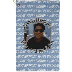 Photo Birthday Golf Towel - Full Print - Small