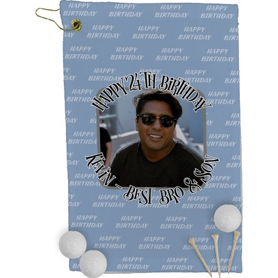 Photo Birthday Golf Towel - Full Print (Personalized)