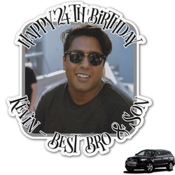 Photo Birthday Graphic Car Decal (Personalized)
