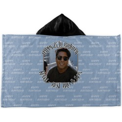 Photo Birthday Kids Hooded Towel (Personalized)