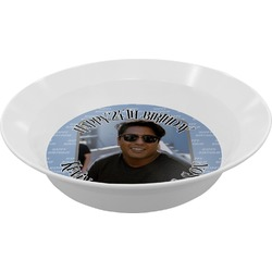 Photo Birthday Melamine Bowl - 12 oz (Personalized)