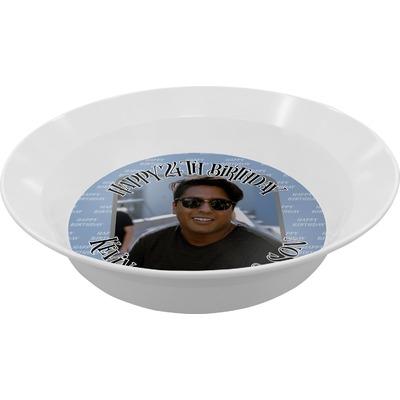 Photo Birthday Melamine Bowls (Personalized)