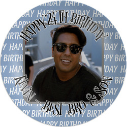Photo Birthday Melamine Plate (Personalized)