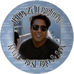 Photo Birthday Melamine Plate (Personalized)