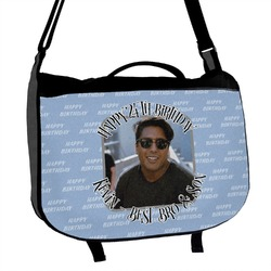 Photo Birthday Messenger Bag (Personalized)