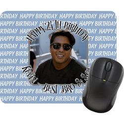 Photo Birthday Rectangular Mouse Pad (Personalized)