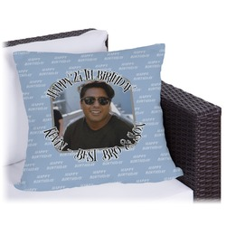 """Photo Birthday Outdoor Pillow - 26"""" (Personalized)"""