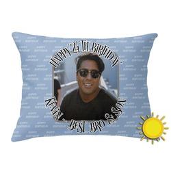 Photo Birthday Outdoor Throw Pillow (Rectangular) (Personalized)