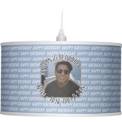 Photo Birthday Drum Pendant Lamp (Personalized)