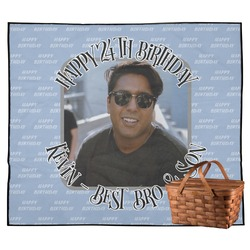 Photo Birthday Outdoor Picnic Blanket (Personalized)