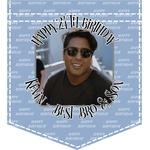 Photo Birthday Iron On Faux Pocket (Personalized)