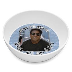 Photo Birthday Melamine Bowl 8oz (Personalized)