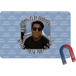 Photo Birthday Rectangular Fridge Magnet (Personalized)