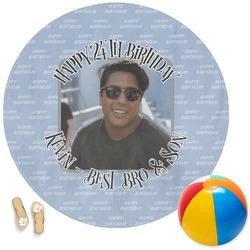Photo Birthday Round Beach Towel (Personalized)
