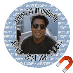 Photo Birthday Car Magnet (Personalized)