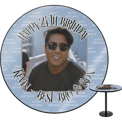 Photo Birthday Round Table (Personalized)