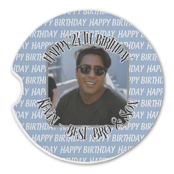Photo Birthday Sandstone Car Coasters (Personalized)
