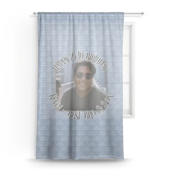 """Photo Birthday Sheer Curtains - 60""""x60"""" (Personalized)"""