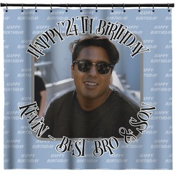 Photo Birthday Shower Curtain (Personalized)