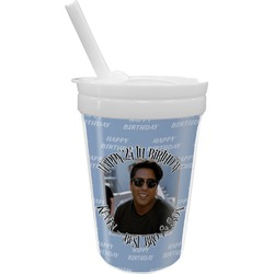 Photo Birthday Sippy Cup with Straw (Personalized)