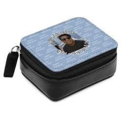 Photo Birthday Small Leatherette Travel Pill Case (Personalized)
