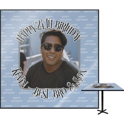 """Photo Birthday Square Table Top - 24"""" (Personalized)"""