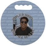 Photo Birthday Stadium Cushion (Round) (Personalized)