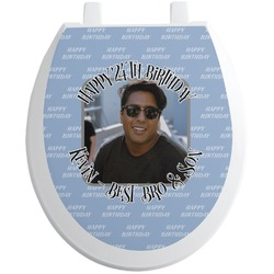 Photo Birthday Toilet Seat Decal (Personalized)