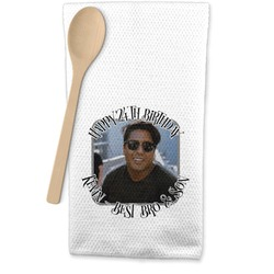 Photo Birthday Waffle Weave Kitchen Towel (Personalized)