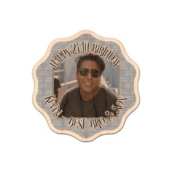 Photo Birthday Genuine Wood Sticker (Personalized)