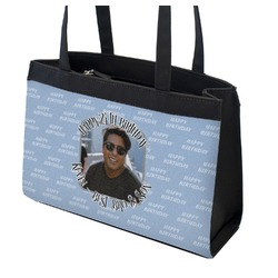 Photo Birthday Zippered Everyday Tote (Personalized)