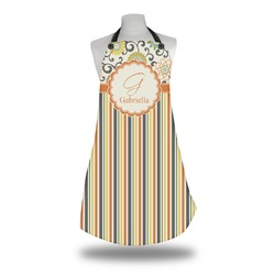 Swirls, Floral & Stripes Apron (Personalized)
