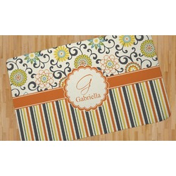 Swirls, Floral & Stripes Area Rug (Personalized)