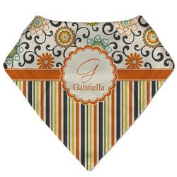Swirls, Floral & Stripes Bandana Bib (Personalized)
