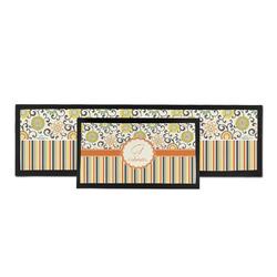 Swirls, Floral & Stripes Bar Mat (Personalized)