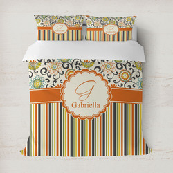 Swirls, Floral & Stripes Duvet Covers (Personalized)