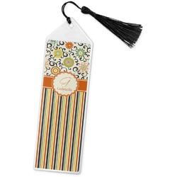 Swirls, Floral & Stripes Book Mark w/Tassel (Personalized)