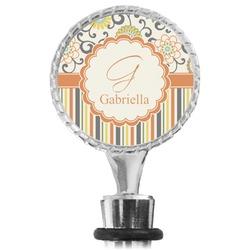 Swirls, Floral & Stripes Wine Bottle Stopper (Personalized)