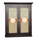 Swirls, Floral & Stripes Cabinet Decal - Custom Size (Personalized)