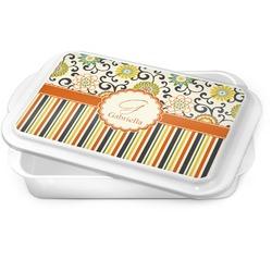 Swirls, Floral & Stripes Cake Pan (Personalized)